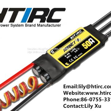 HTIRC Hornet 50A 2-6s Brushless ESC Speed Controller mini 50A for RC airplane,brushless motor speed controller 50a