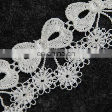 Fashion poly bowknot fringe tassel trimming for lady dresses