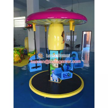 Zhongshan amusement swing chair mini Mushroom flying chair kiddie rides