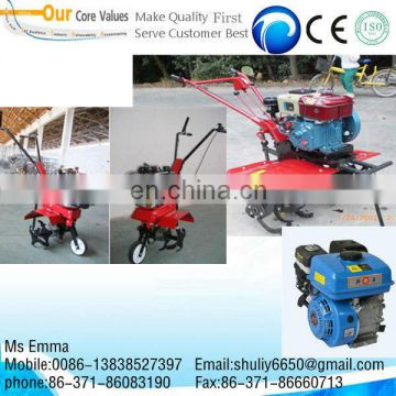 portable gasoline driven mini rototiller/small rotary tiller/weeding machine