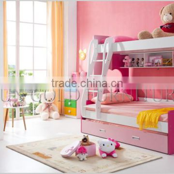Home Furniture Pinky Kids Bunk Bed
