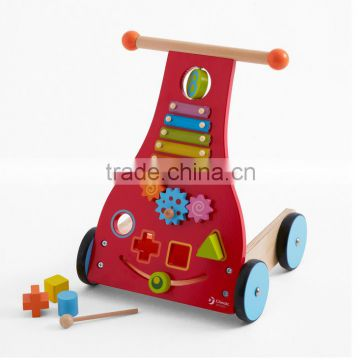 2016 Popular Kids Educational Wooden Push Toy Stroller Round Baby Walker Wholesale for Children                                                                         Quality Choice                                                     Most Popular
