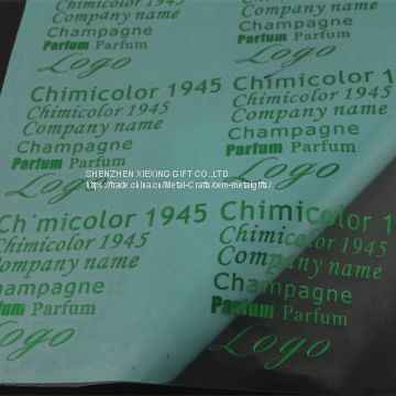 Customized 3M glue electroplate metal nickel sticker