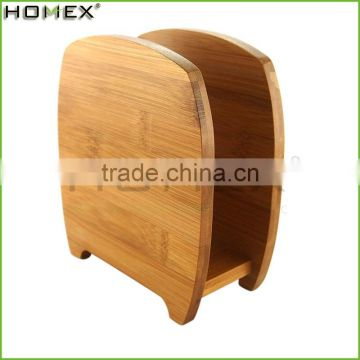 Wholesale Hotel Bamboo Recipe File or Napkin Holder Ecof-friendly Kitchens Bamboo Recipe Card Box and File Holder Hig/Homex_BSCI