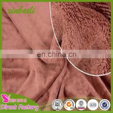 Embossed super soft and water absorption microfiber fabric towel