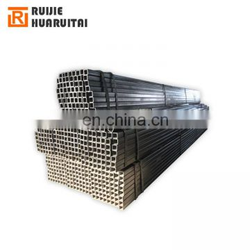 High quality black square steel tube 60x60x2  square tube hollow sections specifications shelf shs rectangular tube