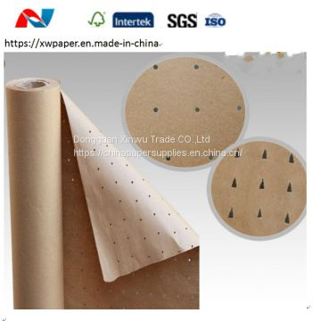 Brown Punched Kraft Paper Roll for Garment CAM CNC Textile