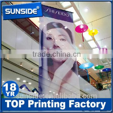 Durable Pole Pocket Hanging Mesh Banner With Grommets Custom Print Fabric Manufacturer D 0628