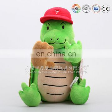 ICTI audited plush toys manufactory plush stuffed soft turtle toy with red cap