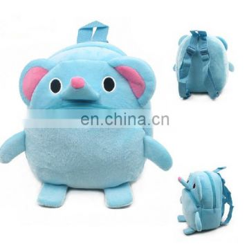 kids plush toy cartoon elephant plush bag for school and travel