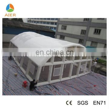 Big inflatable white swimming pool tent, inflatable frame tent, inflatable pool cover