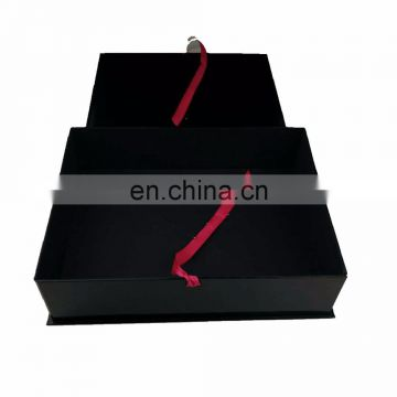 High Quality Luxury Custom Matte Black Paper shoe & Wedding Dress Packaging Box