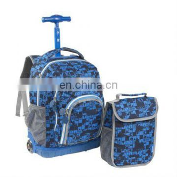 new school bag with wheels your own logo
