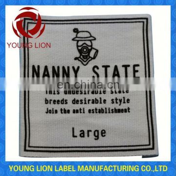 cotton printed clothing label tag
