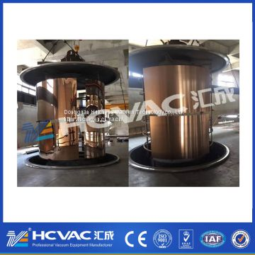 stainless steel gold/rosegold/brown/blue/black pvd coating machine.vacuum PVD colour coating machine (HCVAC)