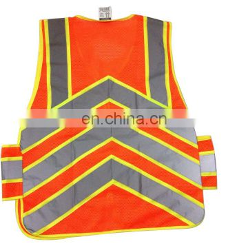Fashion hi vis reflective safety vest for work