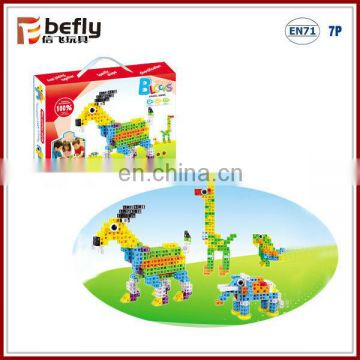 4 kinds ECO mini plastic toy animal building block