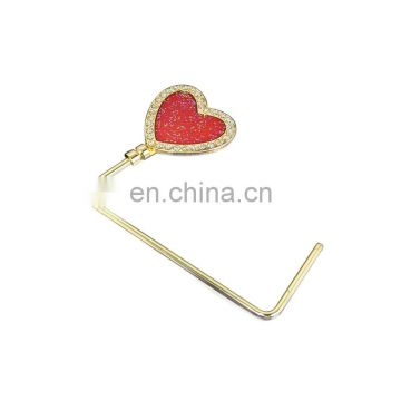 Custom heart shape gold straight metal bag hangers wholesale
