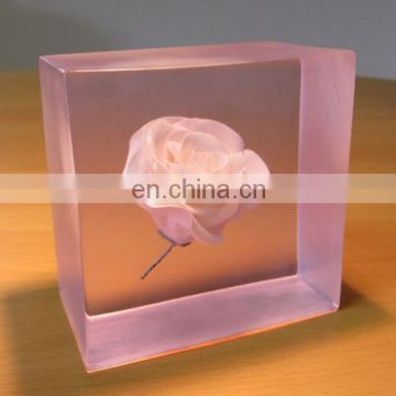 Paper Weight With Insects Or Flowers Coin Lucite Flower Embedment