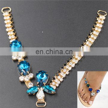 high quality lady sandal decoration rhinestone crystal jewelry shoe accessories