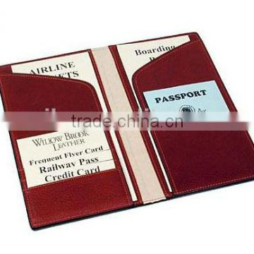 High quality full grain cowhide travel wallet