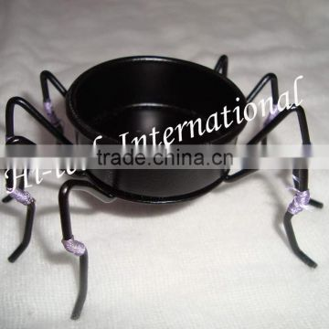 Iron Tea Light Candle Holder,Spider Shape Metal Tea Light Candle Holder,Designer T light Candle Holder,T Lights