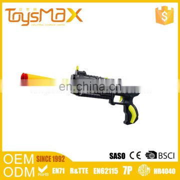 Hottest item red and yellow water and soft bullet safe crystal gun with blister card packaging