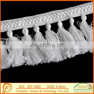 white color tassel braid for garment