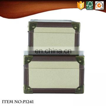 Retro High Quality Kraft Paper Suitcase with Handle