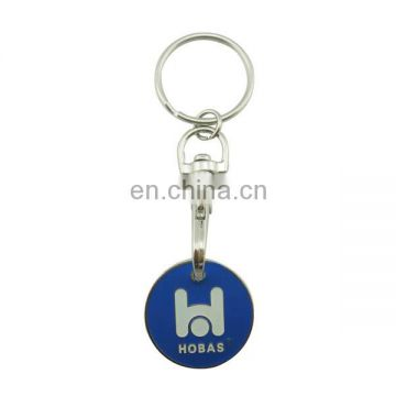 custom metal round soft enamel trolley token with letter