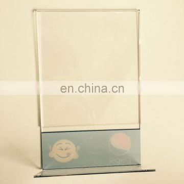 restaurant plastic table stand menu holder