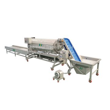 Frozen fruit and vegetable peeling production line