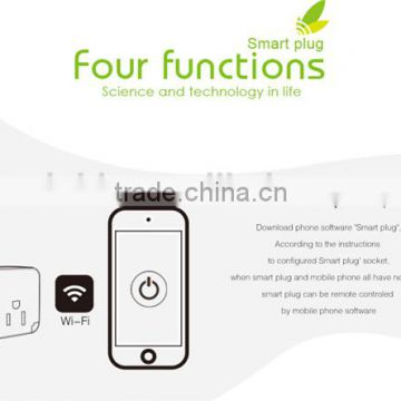 Intelligent home system Smart home WIFI Socket with smart phone Android & IOS APP for Remote control home security