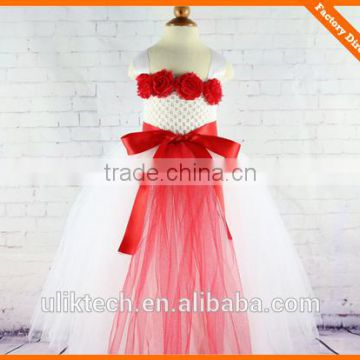 full-length ball gown flower dress for girls evening ball gown children fashion and hot party flower dress