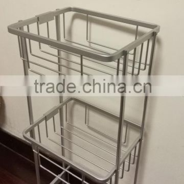 Tension shower caddy and tension pole caddy and bamboo corner caddy and Aluminium bath corner rack, 3 tiers corner shelf