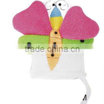 soft bath glove in butterfly-shaped