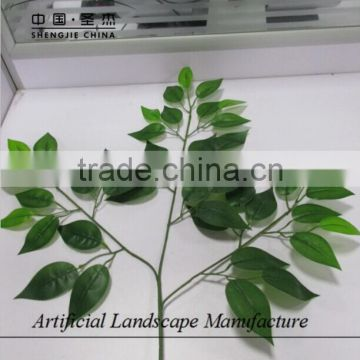 Artificial banyan leaves with green color manufcaturer