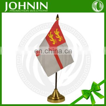 hot selling polyester printed national desk table small country flags