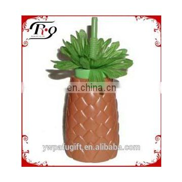 luau tropical pineapple sipper cups with straw