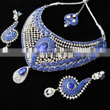 NEW INDIAN DESIGNER WHOLESALE ARTIFICIAL WEDDING BRIDAL KUNDAN JEWELLERY/JEWELRY NECKLACE EARRINGS SET