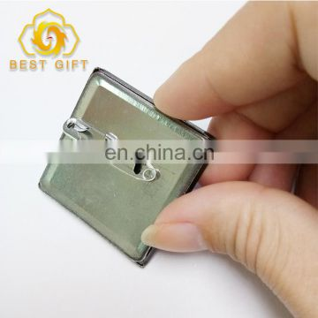 Cheap Square shaped Tinplate Button Badge For Promotion