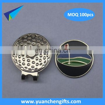 Golf club magnetic cap clips ball markers with personalized logo