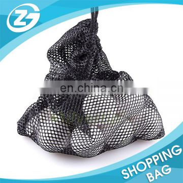 Golf Tennis Balls Carrying Holder Storage Drawstring Nylon Polyester Mesh Nets Bag Pouch