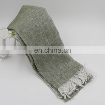 linen scarf 42s fresh comfortable natural scarf good quality two color scarf