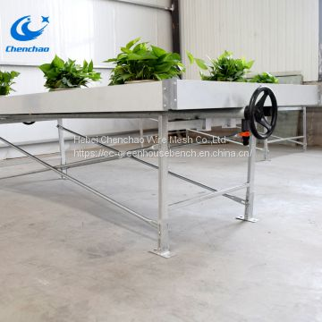 Greenhouse rolling bench ebb and flow rolling table for plants