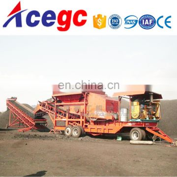 Crushing station,movable crusher construction material manufacturing plant
