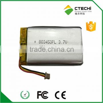 Rechargeable polymer battery 803450PL 3.7V 1300mAh