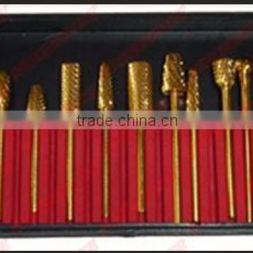 12pcs/set golden electric nail file for manicure nail drill machine ...