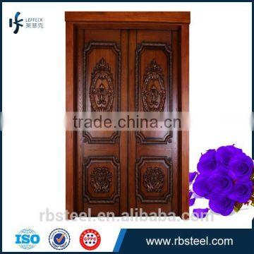 Foshan Solid Wood Door Villa Main Door Solid Teak Wood Door Price