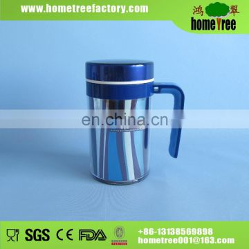 Double Layer Stainless Steel Cup With Handle 400ml
